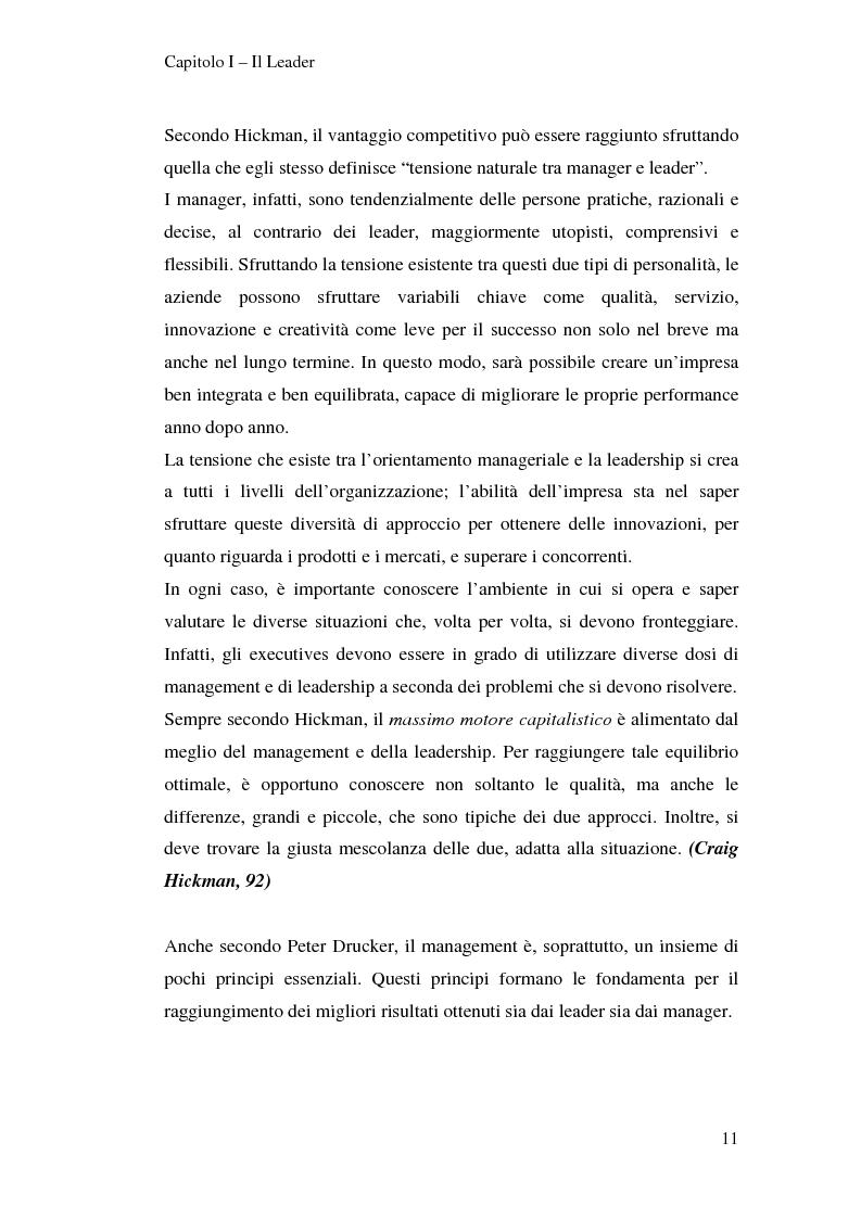 Anteprima della tesi: Leadership e motivazione, Pagina 11