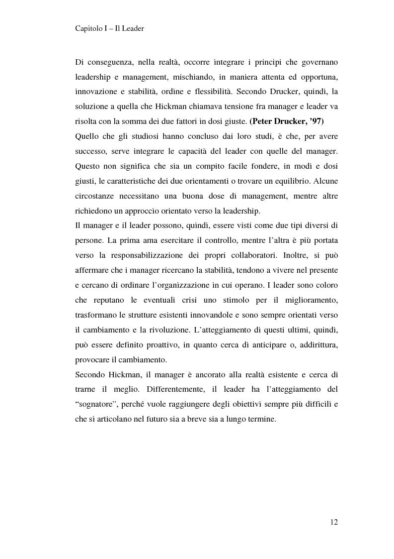 Anteprima della tesi: Leadership e motivazione, Pagina 12
