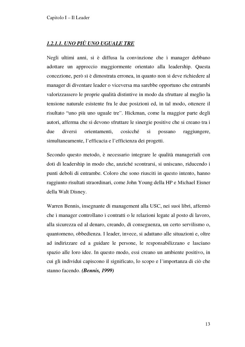 Anteprima della tesi: Leadership e motivazione, Pagina 13