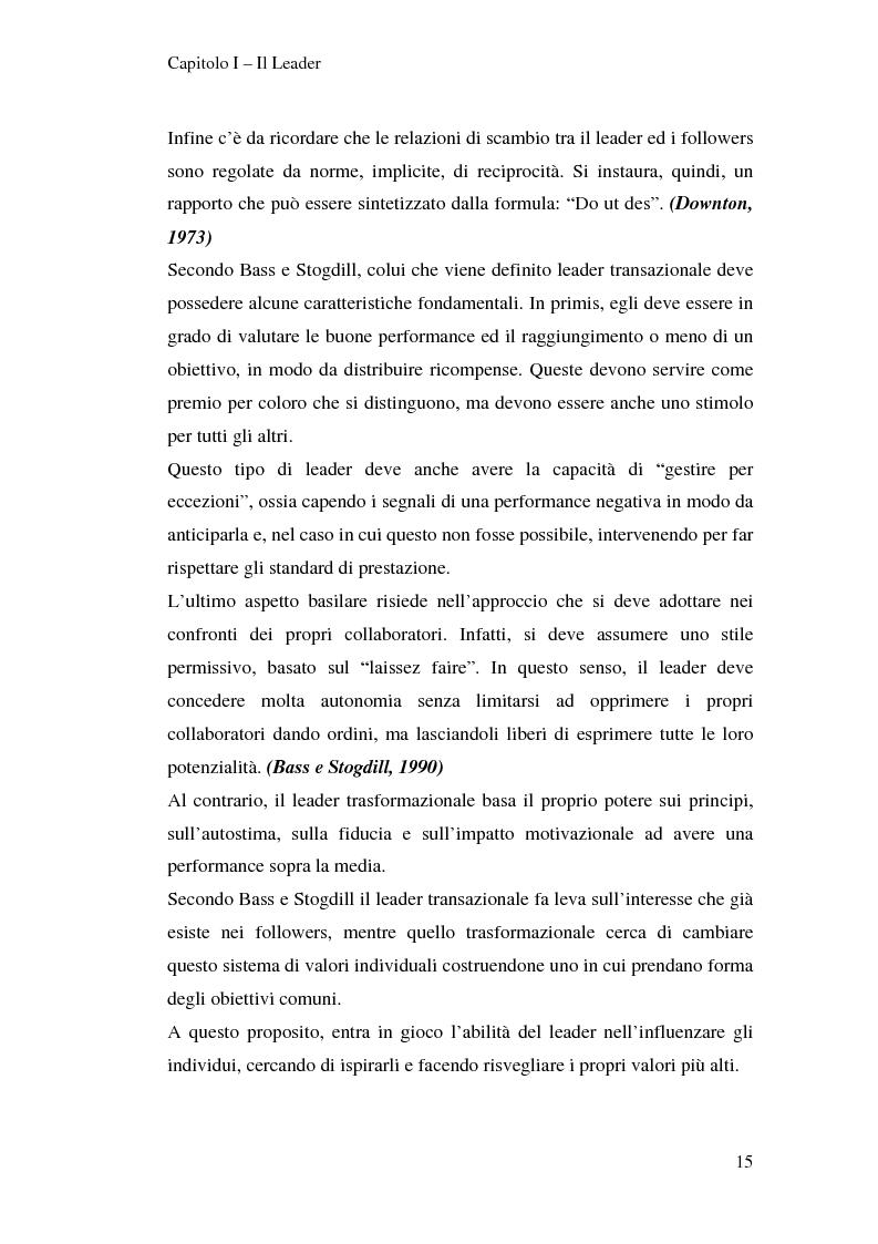 Anteprima della tesi: Leadership e motivazione, Pagina 15