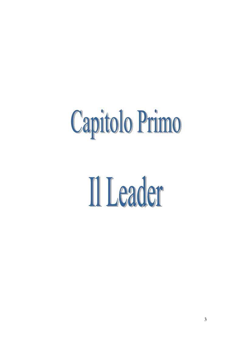 Anteprima della tesi: Leadership e motivazione, Pagina 3