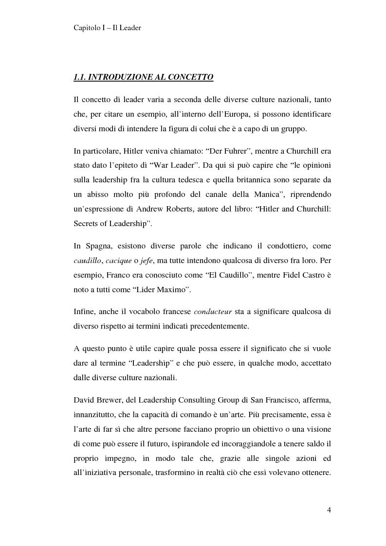 Anteprima della tesi: Leadership e motivazione, Pagina 4