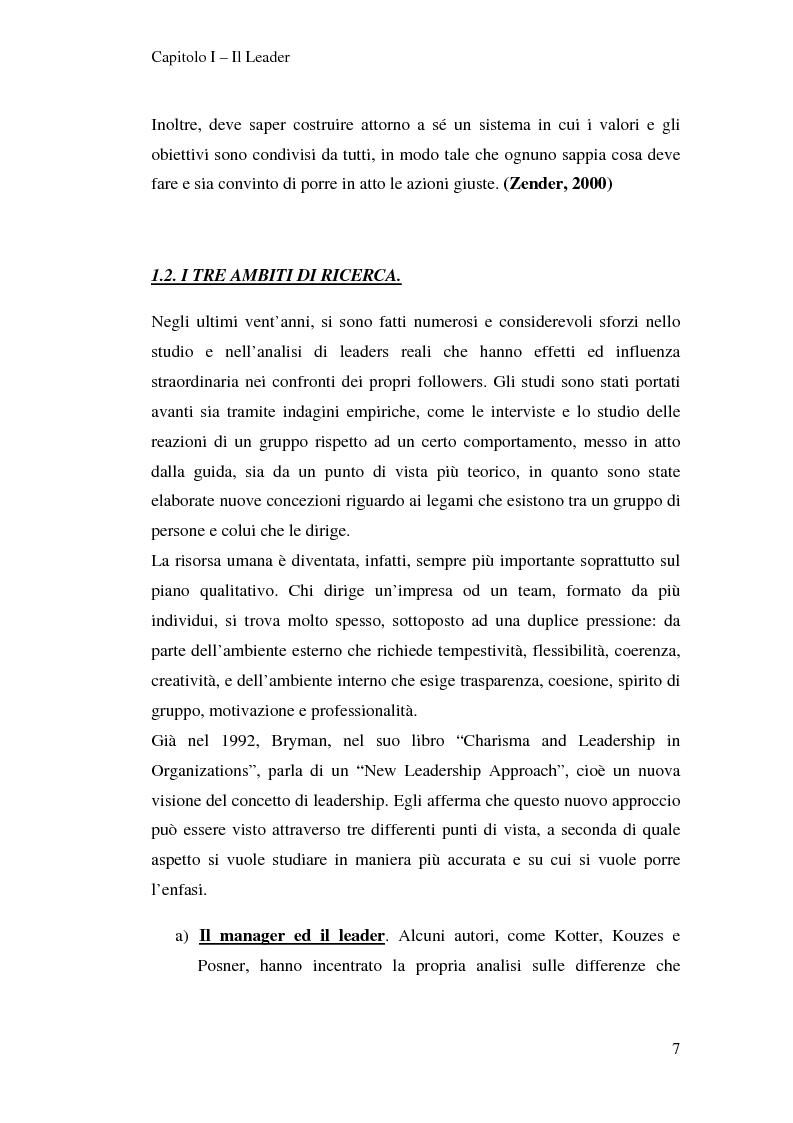 Anteprima della tesi: Leadership e motivazione, Pagina 7