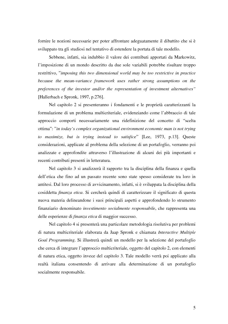 Anteprima della tesi: Approcci Multicriteriali per Problemi di Selezione di Portafoglio: un'applicazione alla Finanza Socialmente Responsabile, Pagina 2