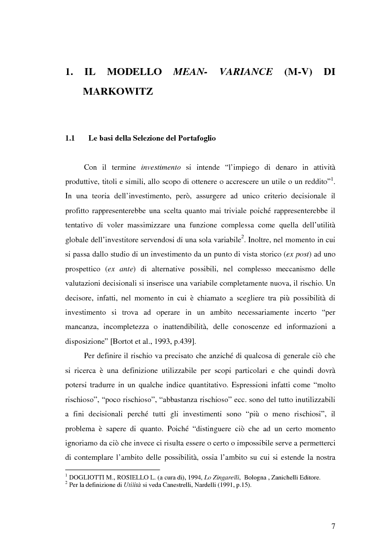 Anteprima della tesi: Approcci Multicriteriali per Problemi di Selezione di Portafoglio: un'applicazione alla Finanza Socialmente Responsabile, Pagina 4
