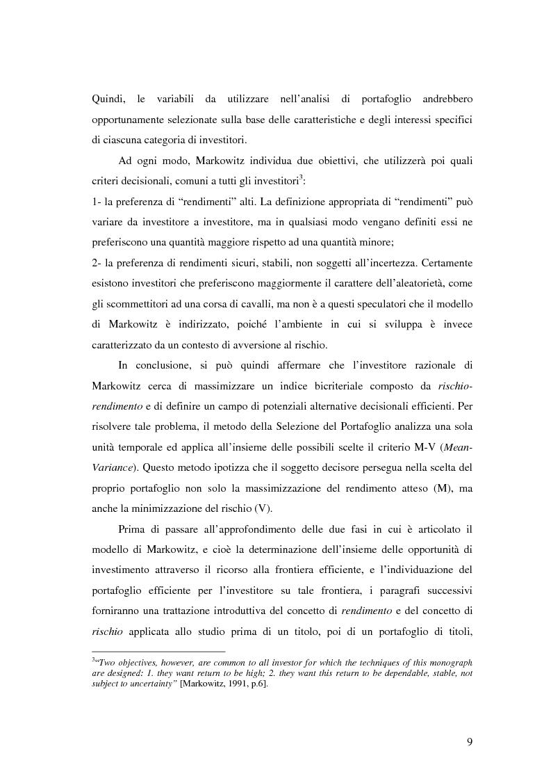 Anteprima della tesi: Approcci Multicriteriali per Problemi di Selezione di Portafoglio: un'applicazione alla Finanza Socialmente Responsabile, Pagina 6