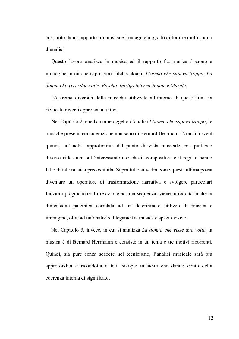 Anteprima della tesi: Intrigo intertestuale: un' indagine semiotica della collaborazione Hitchcock/Herrmann, Pagina 8