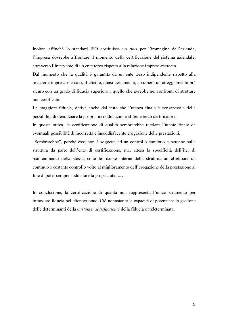 Anteprima della tesi: La qualità nei servizi alberghieri: il caso Hotel Milano, Pagina 10