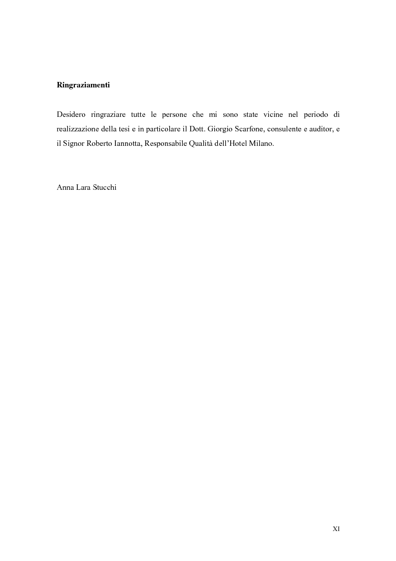 Anteprima della tesi: La qualità nei servizi alberghieri: il caso Hotel Milano, Pagina 11