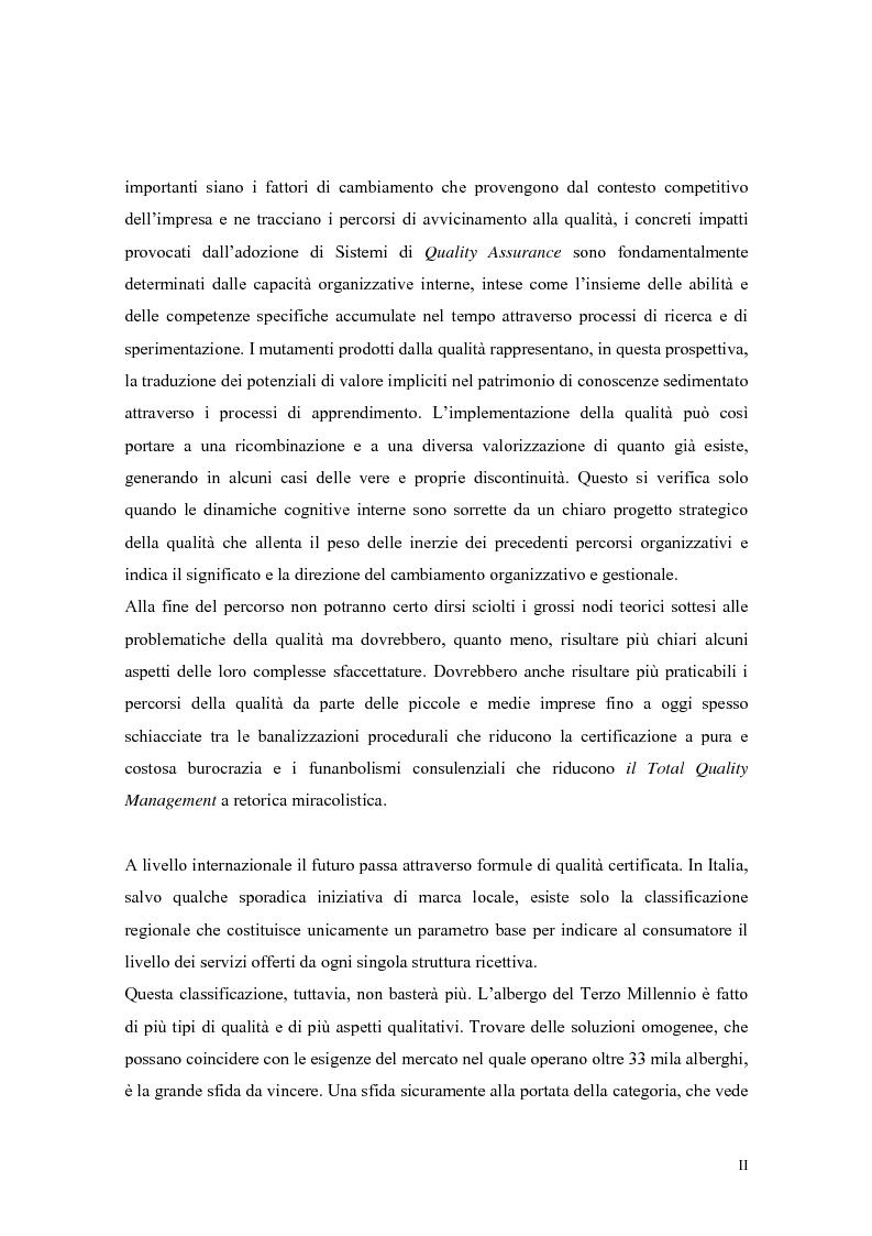 Anteprima della tesi: La qualità nei servizi alberghieri: il caso Hotel Milano, Pagina 2