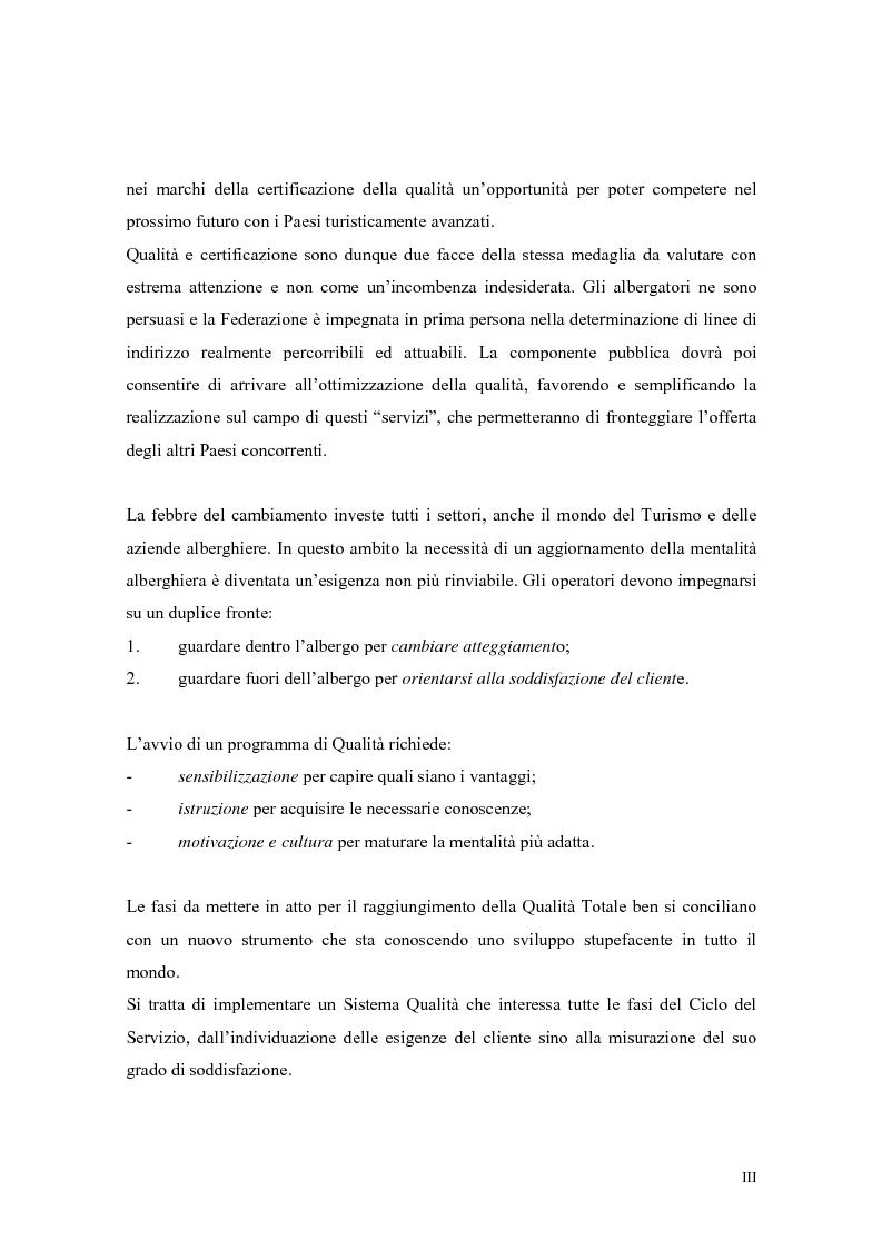 Anteprima della tesi: La qualità nei servizi alberghieri: il caso Hotel Milano, Pagina 3