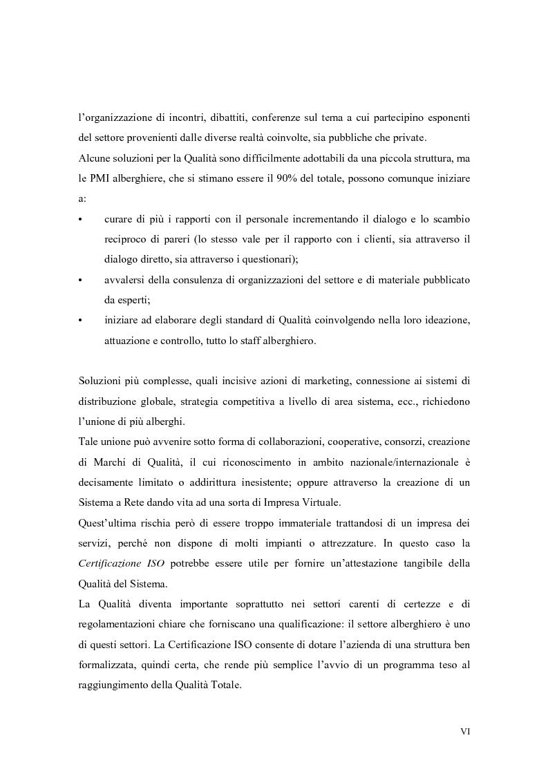 Anteprima della tesi: La qualità nei servizi alberghieri: il caso Hotel Milano, Pagina 6