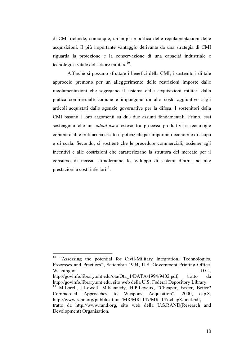 Anteprima della tesi: Le tecnologie dual-use: implicazioni per l'economia e per la sicurezza internazionale, Pagina 10