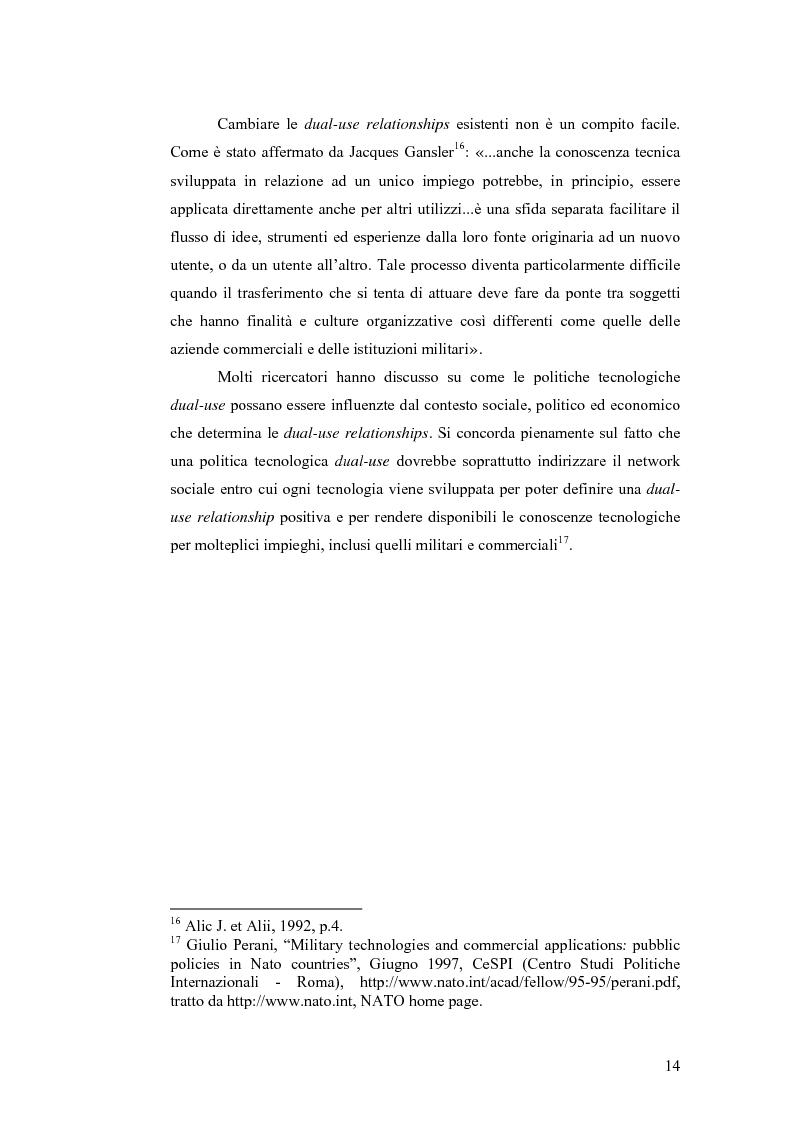 Anteprima della tesi: Le tecnologie dual-use: implicazioni per l'economia e per la sicurezza internazionale, Pagina 14