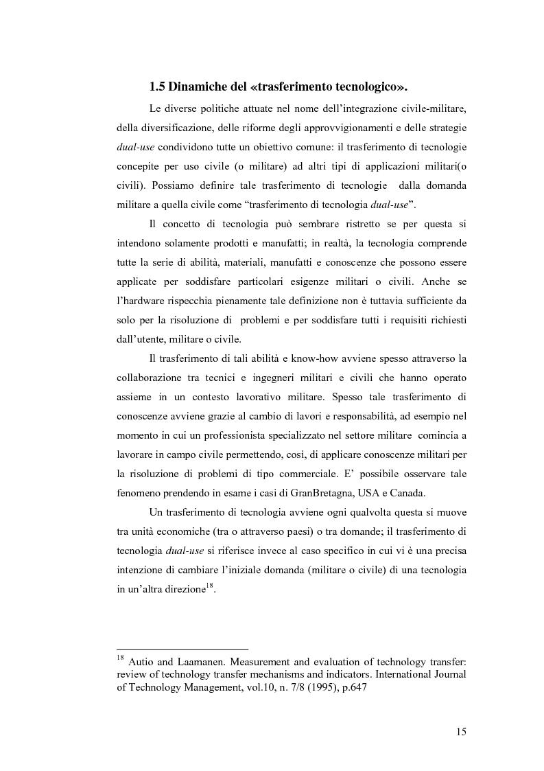 Anteprima della tesi: Le tecnologie dual-use: implicazioni per l'economia e per la sicurezza internazionale, Pagina 15