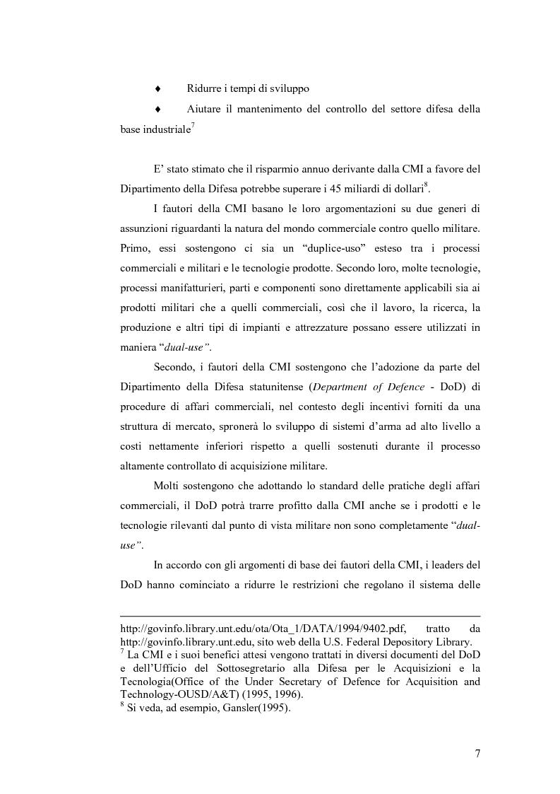 Anteprima della tesi: Le tecnologie dual-use: implicazioni per l'economia e per la sicurezza internazionale, Pagina 7