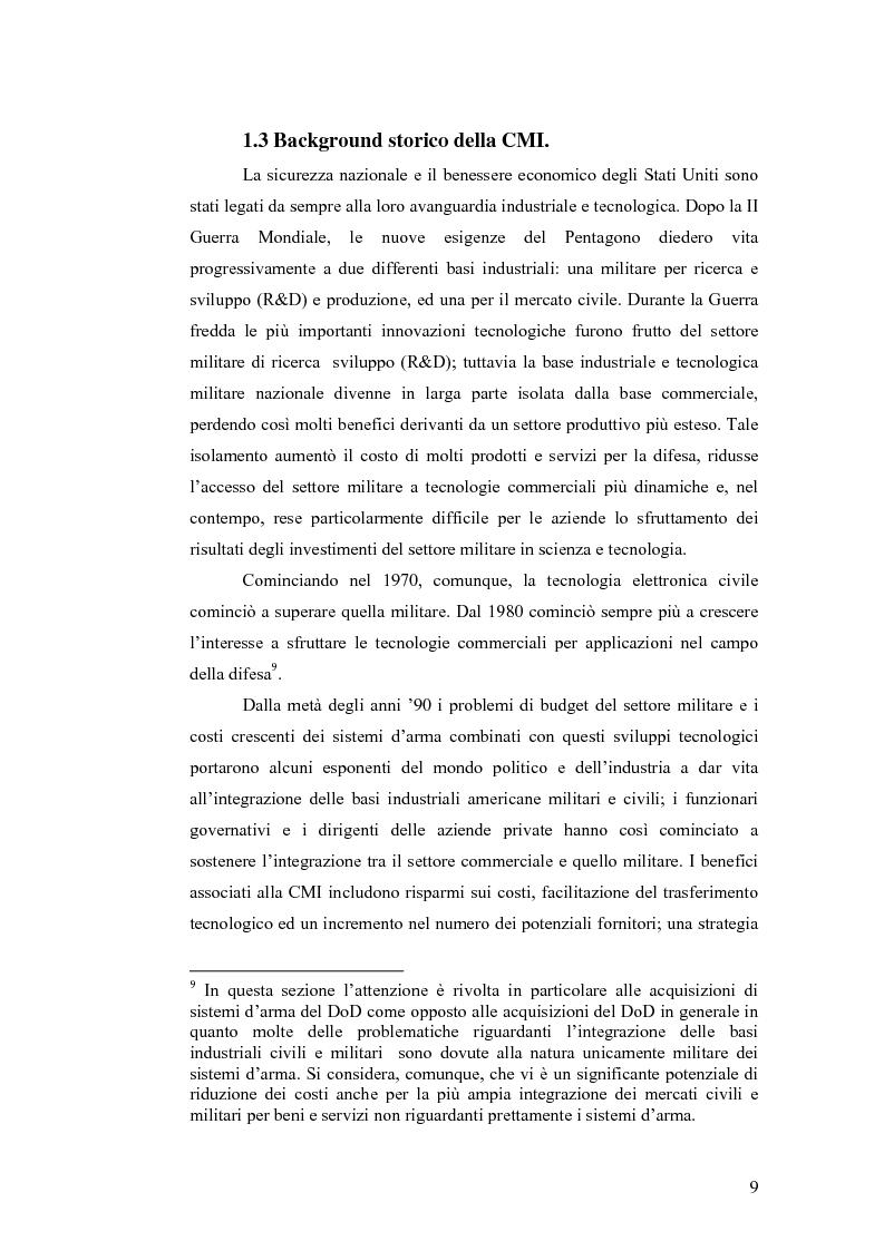 Anteprima della tesi: Le tecnologie dual-use: implicazioni per l'economia e per la sicurezza internazionale, Pagina 9