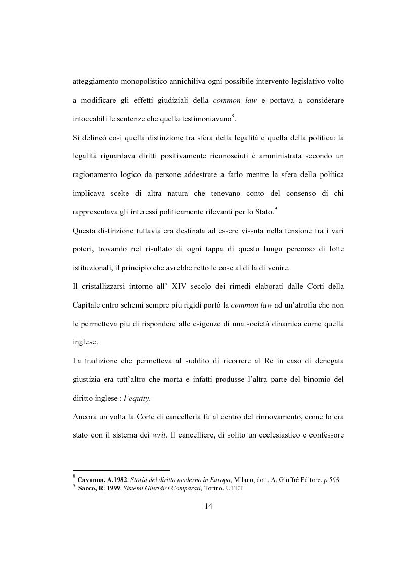 Anteprima della tesi: La Costituzione Britannica tra tradizione e modernizzazione, Pagina 10