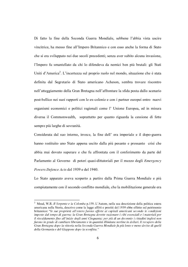 Anteprima della tesi: La Costituzione Britannica tra tradizione e modernizzazione, Pagina 2