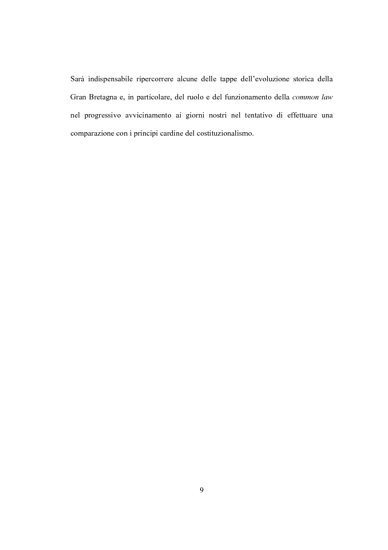 Anteprima della tesi: La Costituzione Britannica tra tradizione e modernizzazione, Pagina 5
