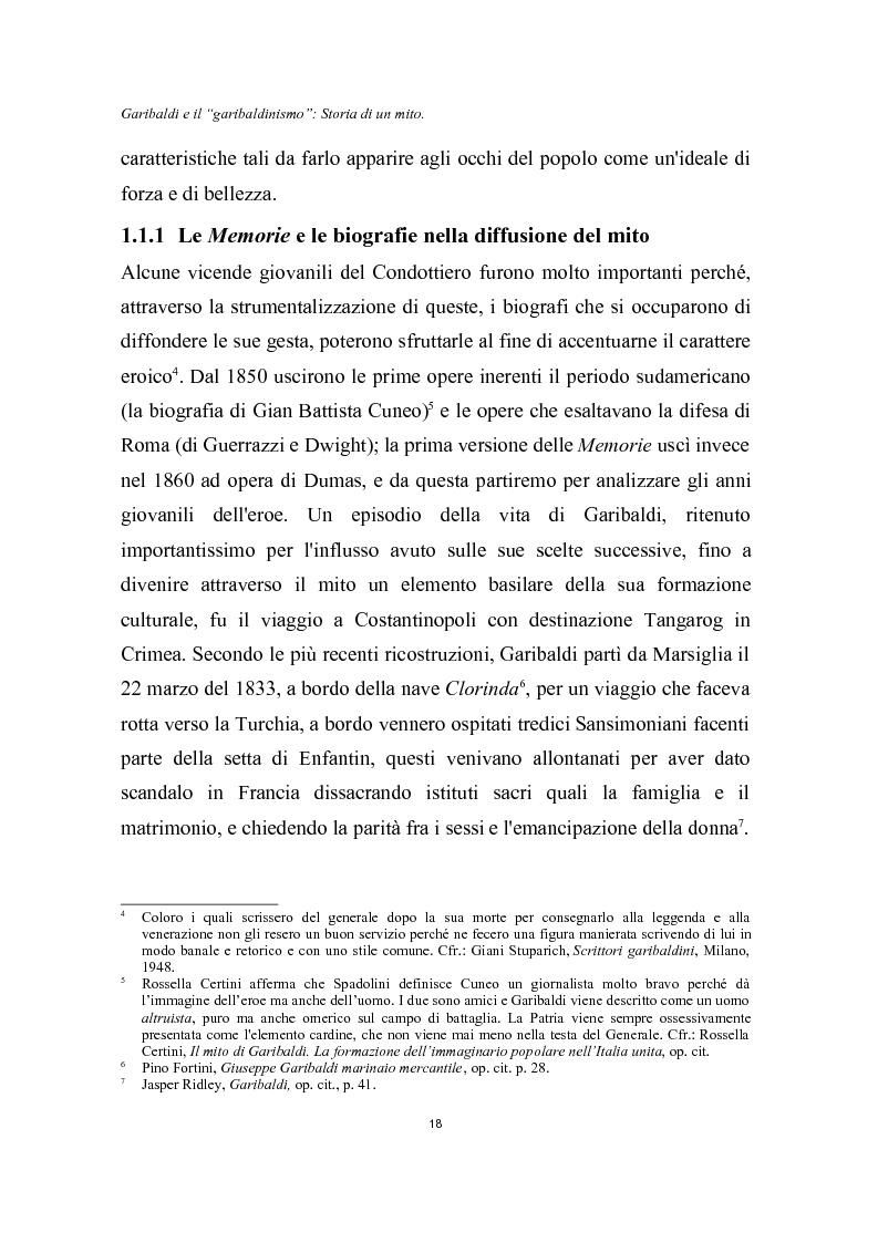 Anteprima della tesi: Garibaldi e il ''garibaldinismo'': Storia di un mito, Pagina 15