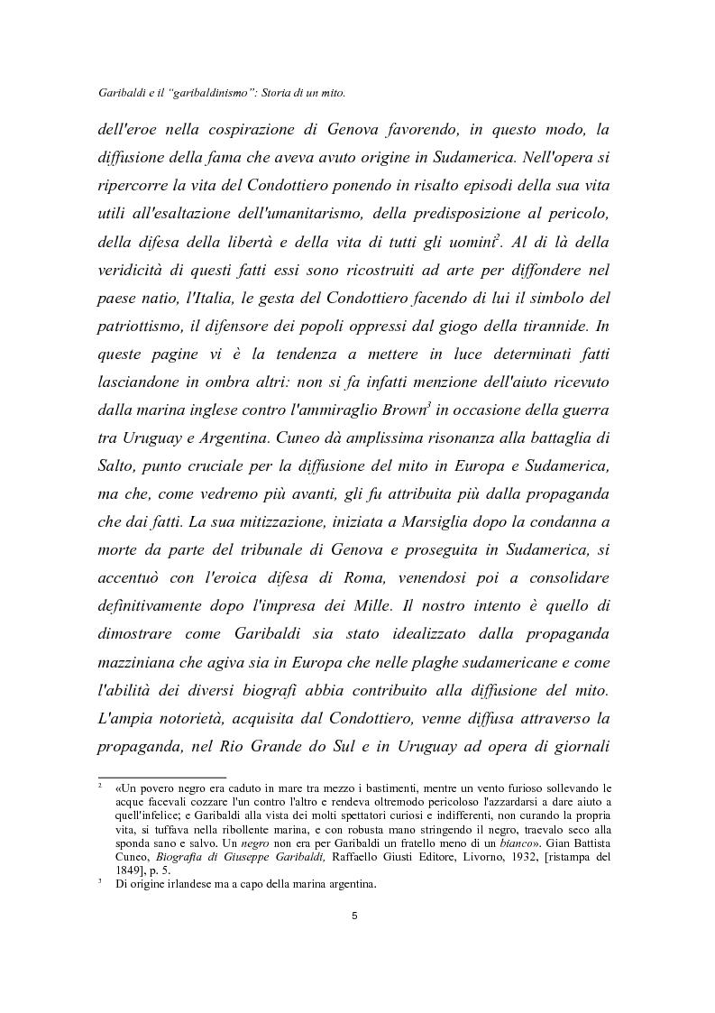 Anteprima della tesi: Garibaldi e il ''garibaldinismo'': Storia di un mito, Pagina 2
