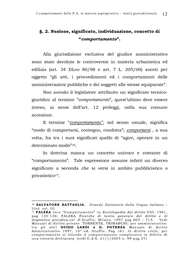 Anteprima della tesi: I comportamenti della pubblica amministrazione in materia espropriativa: tutela giurisdizionale, Pagina 12