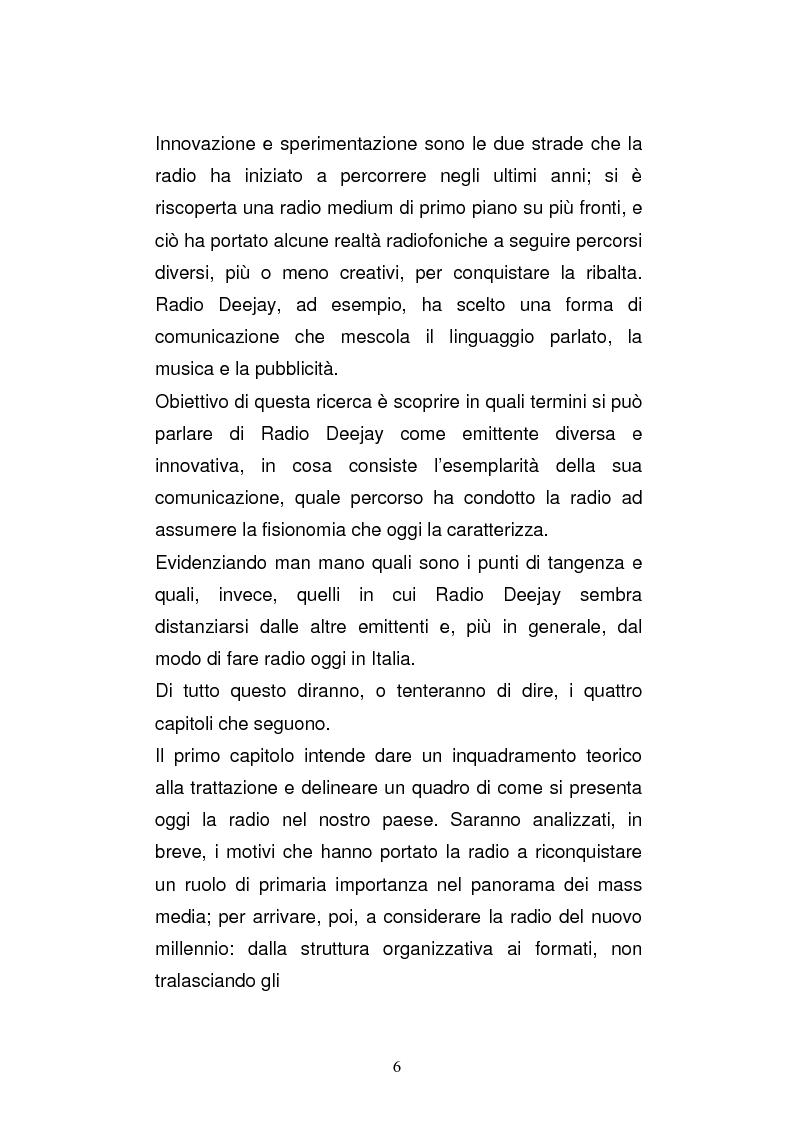 Anteprima della tesi: Il consumo della radio: il caso Radio Deejay., Pagina 1