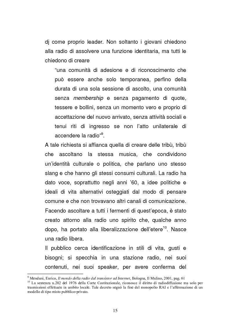 Anteprima della tesi: Il consumo della radio: il caso Radio Deejay., Pagina 10