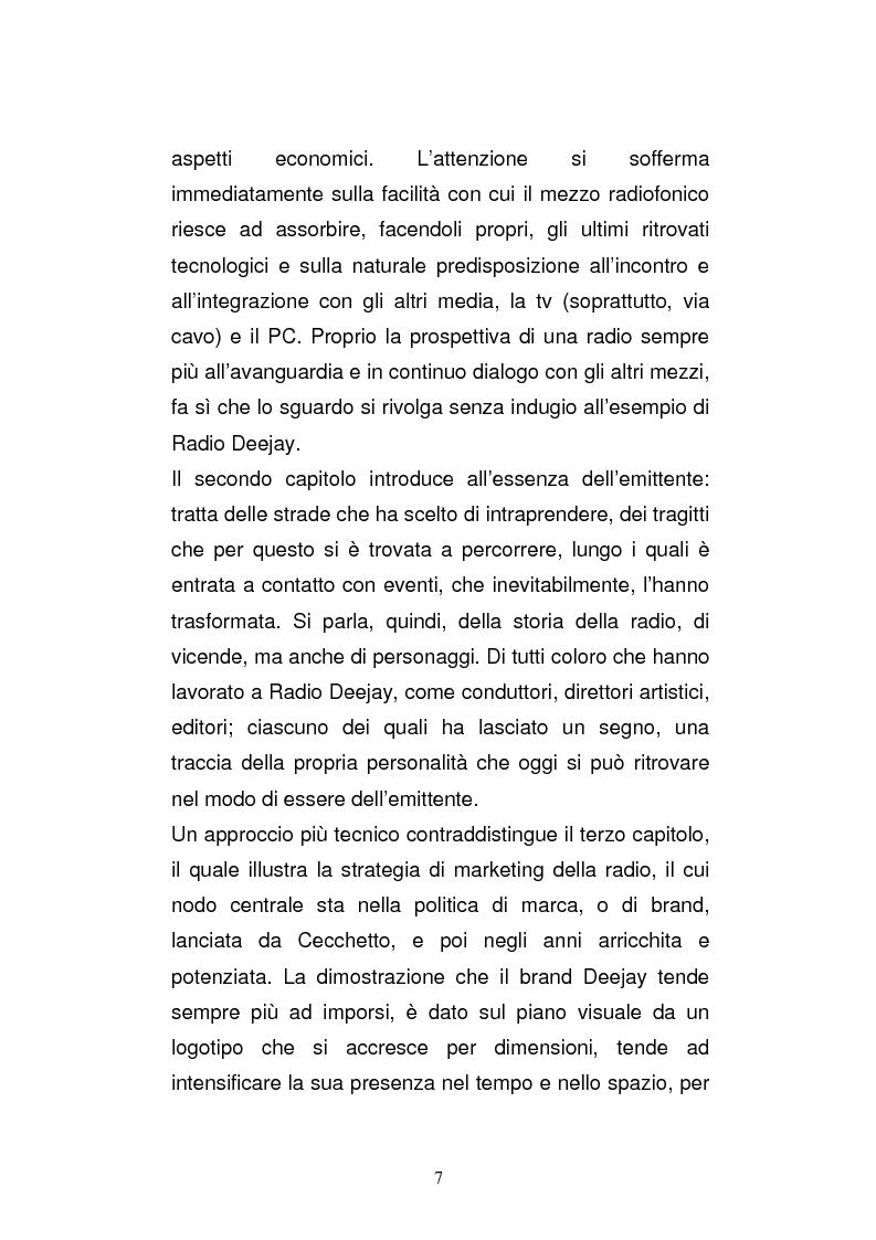 Anteprima della tesi: Il consumo della radio: il caso Radio Deejay., Pagina 2