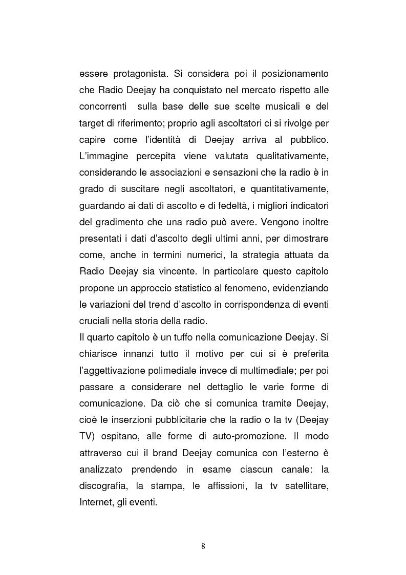 Anteprima della tesi: Il consumo della radio: il caso Radio Deejay., Pagina 3