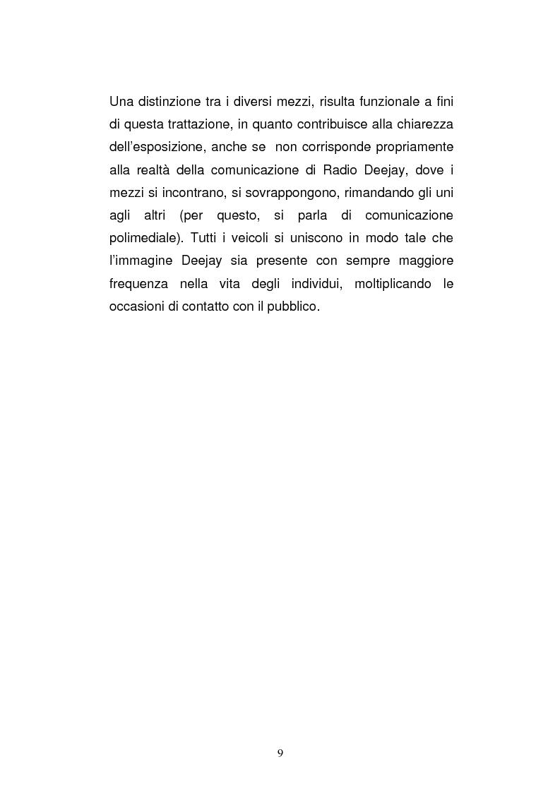 Anteprima della tesi: Il consumo della radio: il caso Radio Deejay., Pagina 4