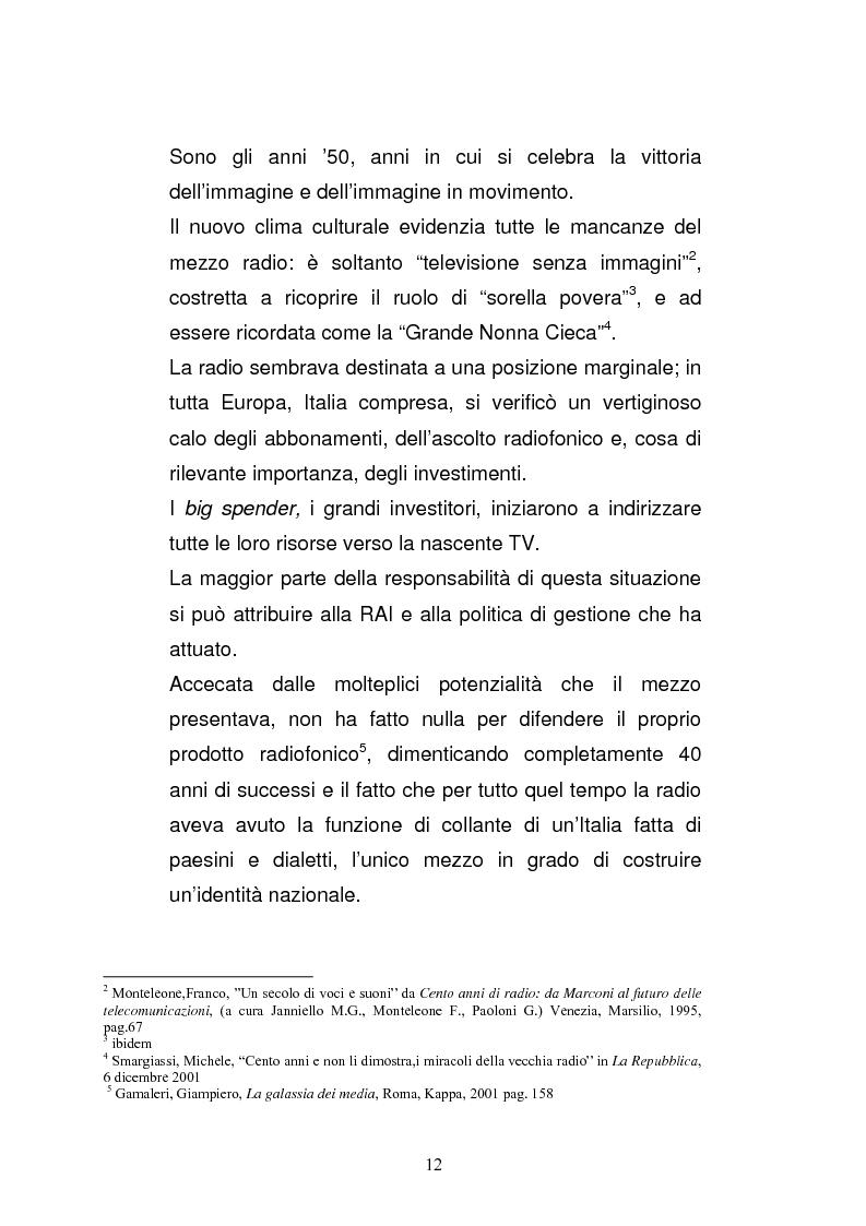 Anteprima della tesi: Il consumo della radio: il caso Radio Deejay., Pagina 7