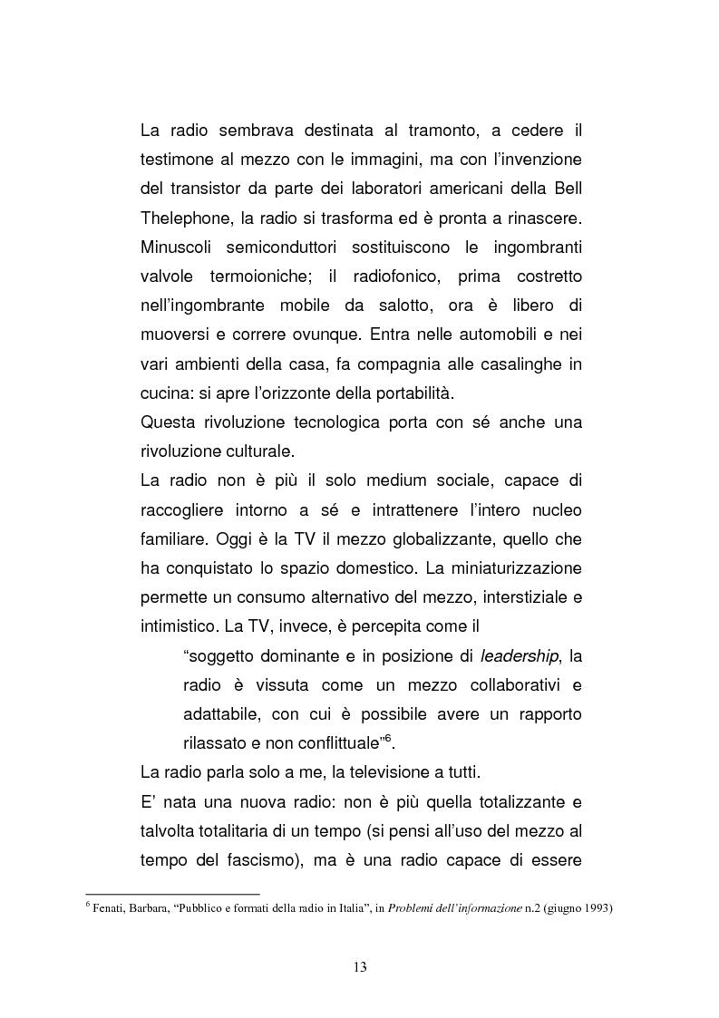 Anteprima della tesi: Il consumo della radio: il caso Radio Deejay., Pagina 8