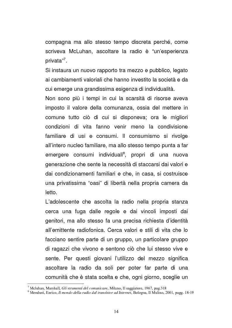 Anteprima della tesi: Il consumo della radio: il caso Radio Deejay., Pagina 9