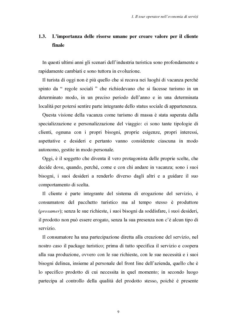 Anteprima della tesi: L'Assistenza Turistica: il Valore Aggiunto della vacanza organizzata, Pagina 13