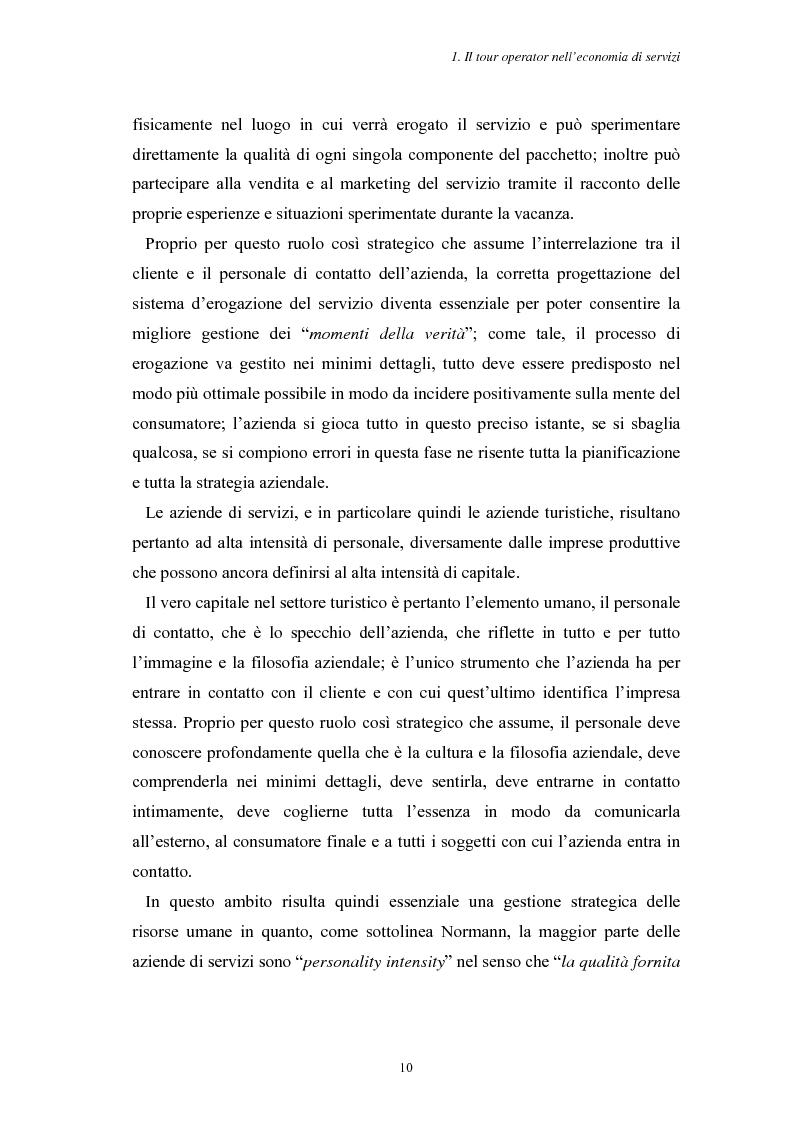 Anteprima della tesi: L'Assistenza Turistica: il Valore Aggiunto della vacanza organizzata, Pagina 14