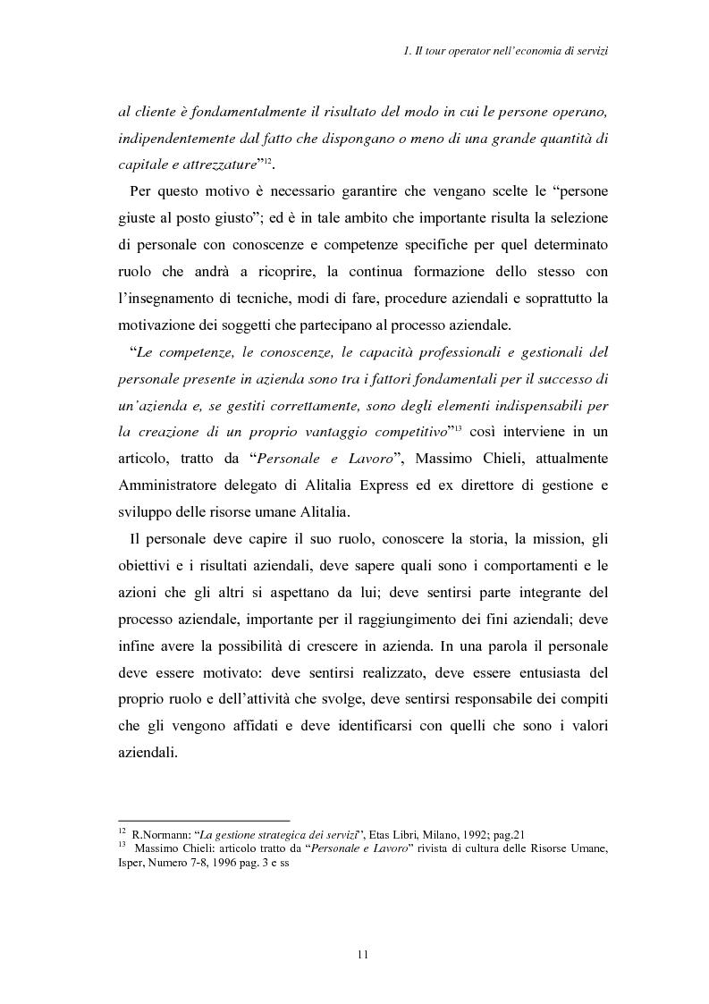 Anteprima della tesi: L'Assistenza Turistica: il Valore Aggiunto della vacanza organizzata, Pagina 15
