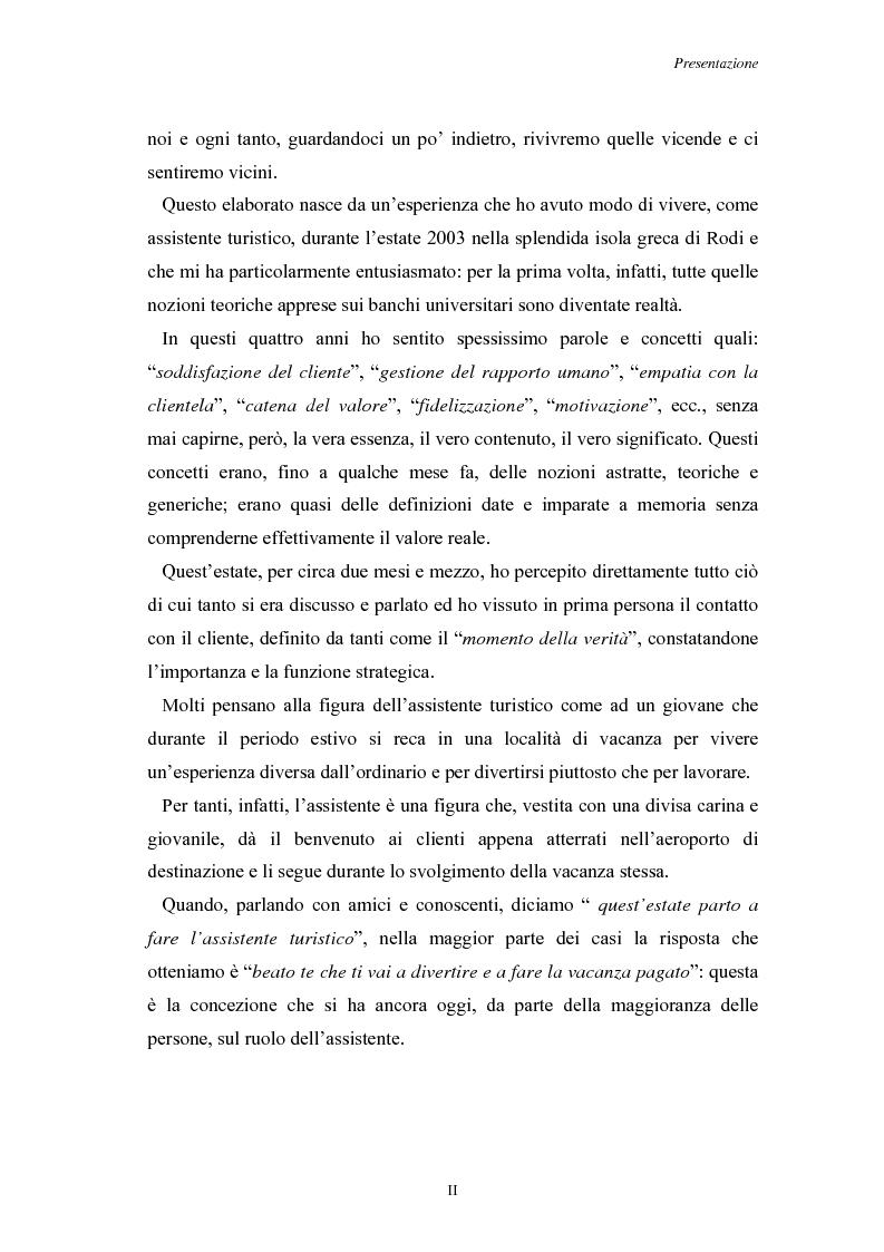 Anteprima della tesi: L'Assistenza Turistica: il Valore Aggiunto della vacanza organizzata, Pagina 2