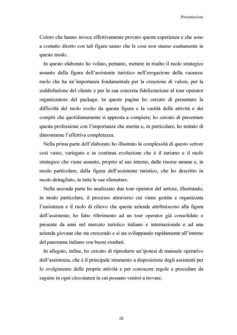 Anteprima della tesi: L'Assistenza Turistica: il Valore Aggiunto della vacanza organizzata, Pagina 3