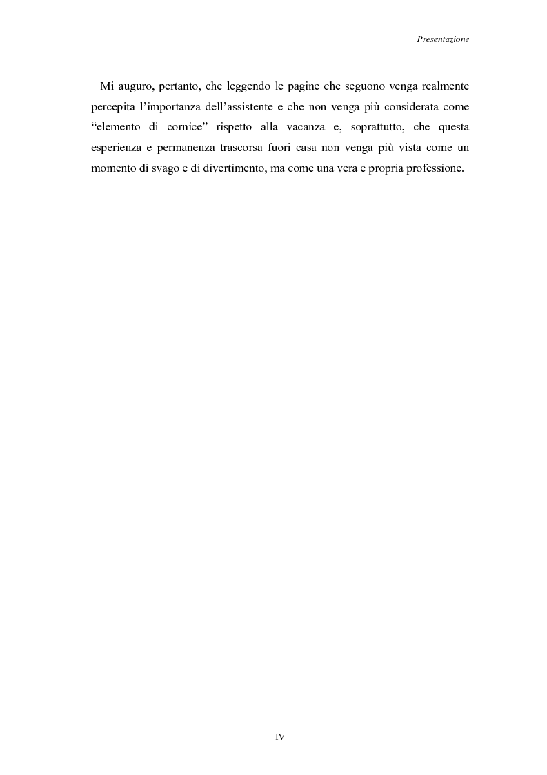 Anteprima della tesi: L'Assistenza Turistica: il Valore Aggiunto della vacanza organizzata, Pagina 4