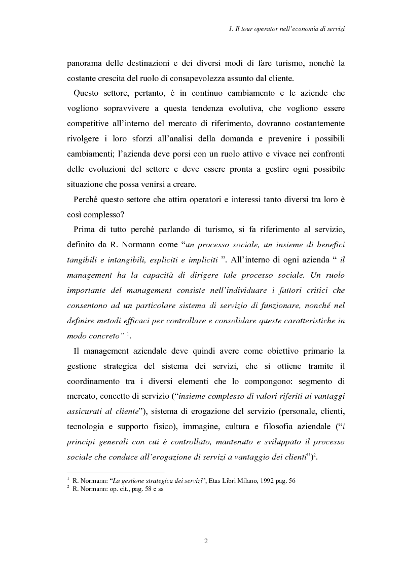 Anteprima della tesi: L'Assistenza Turistica: il Valore Aggiunto della vacanza organizzata, Pagina 6
