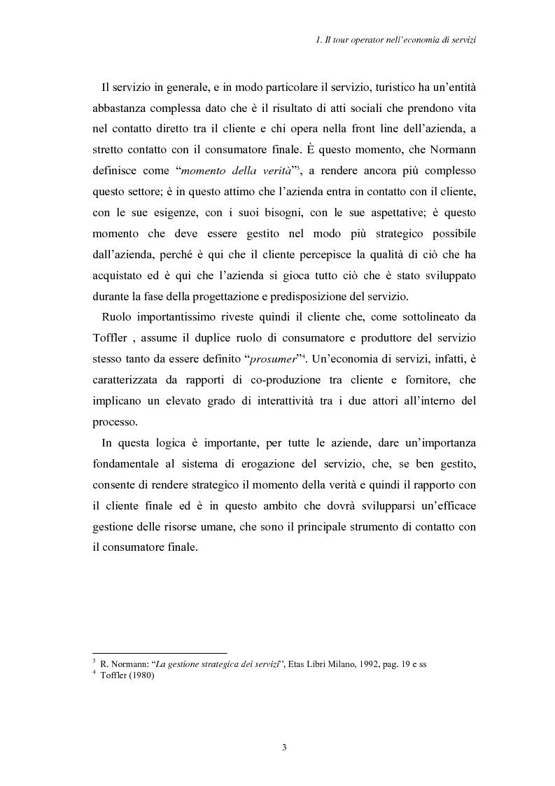 Anteprima della tesi: L'Assistenza Turistica: il Valore Aggiunto della vacanza organizzata, Pagina 7