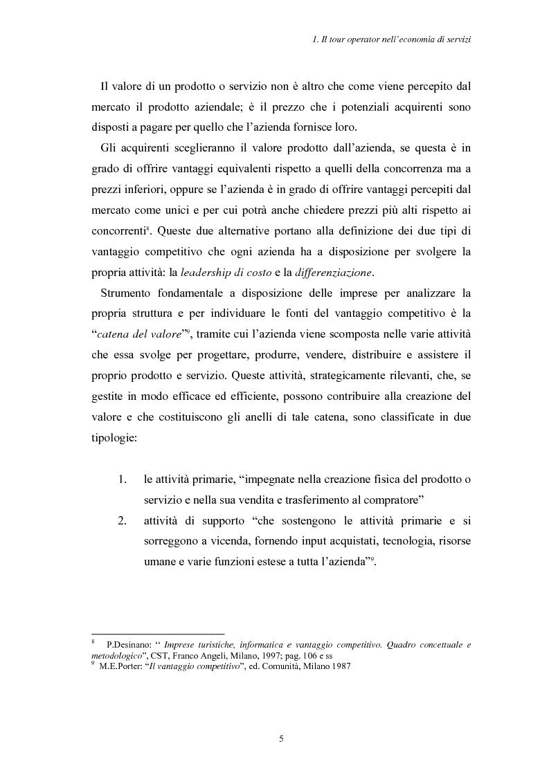Anteprima della tesi: L'Assistenza Turistica: il Valore Aggiunto della vacanza organizzata, Pagina 9