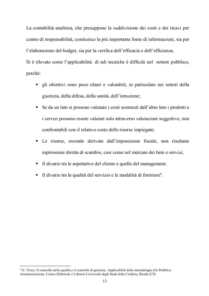 Anteprima della tesi: Gli effetti dell'autonomia sulla gestione e sul sistema contabile dell'istituzioni scolastiche. Un caso, Pagina 11