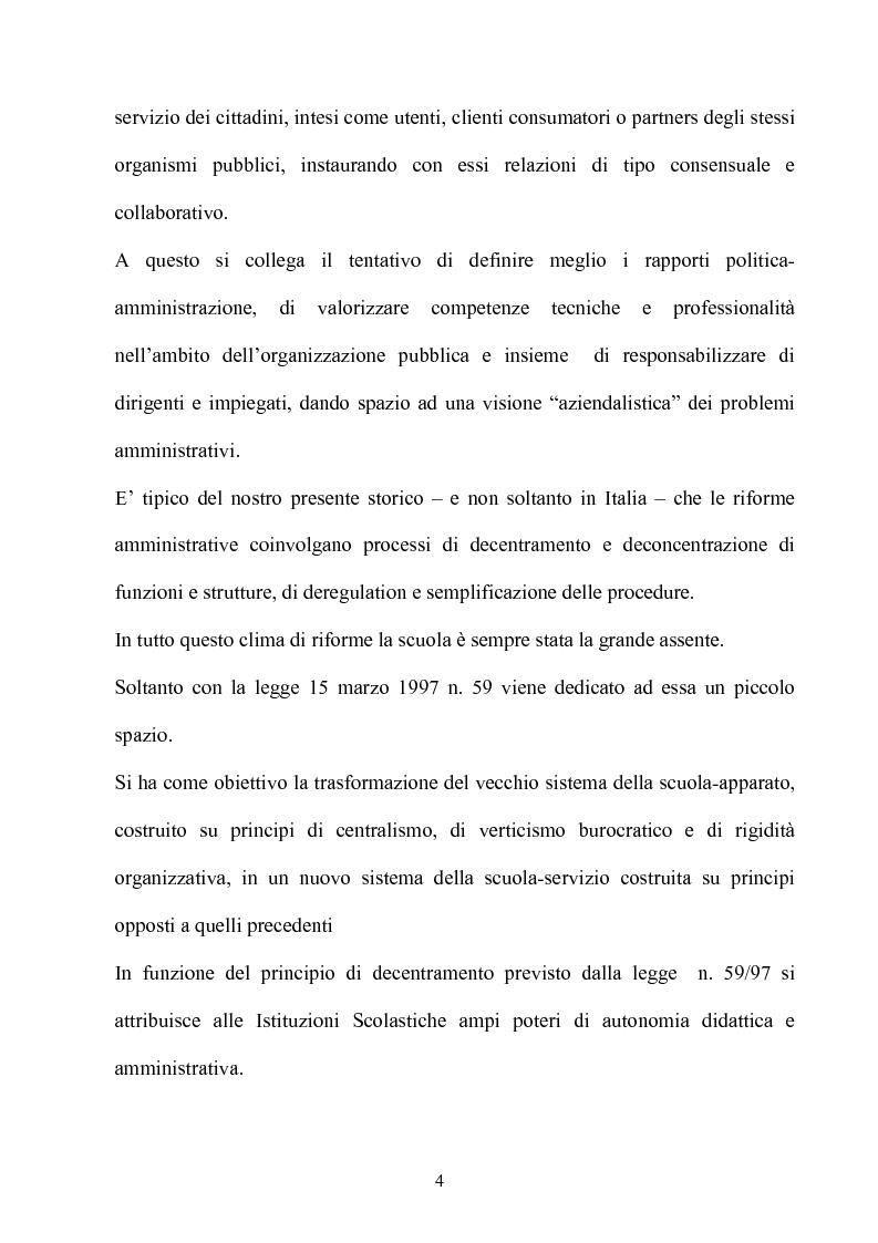 Anteprima della tesi: Gli effetti dell'autonomia sulla gestione e sul sistema contabile dell'istituzioni scolastiche. Un caso, Pagina 2