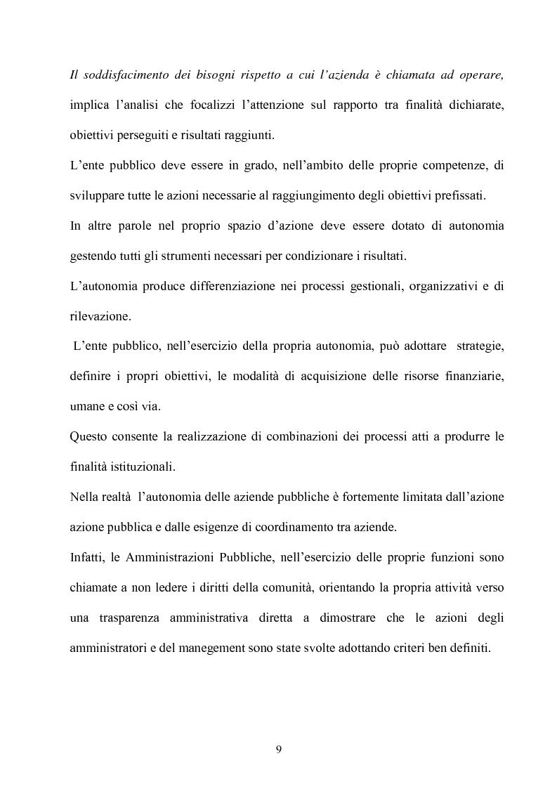 Anteprima della tesi: Gli effetti dell'autonomia sulla gestione e sul sistema contabile dell'istituzioni scolastiche. Un caso, Pagina 7