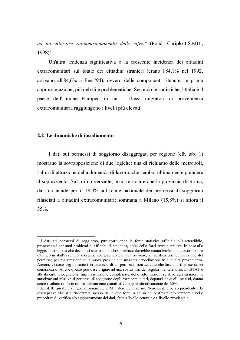 Anteprima della tesi: Immigrazione extracomunitaria e lavoro in Veneto: il caso del comune di Oderzo, Pagina 14