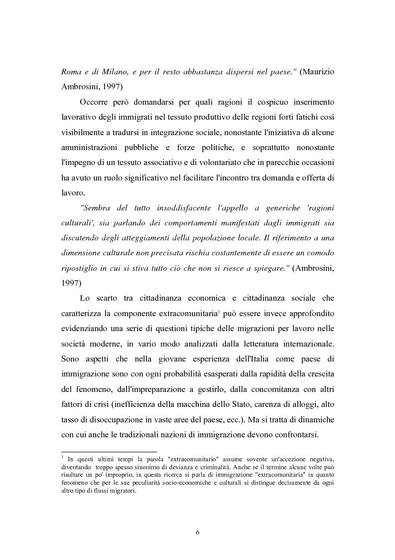 Anteprima della tesi: Immigrazione extracomunitaria e lavoro in Veneto: il caso del comune di Oderzo, Pagina 2