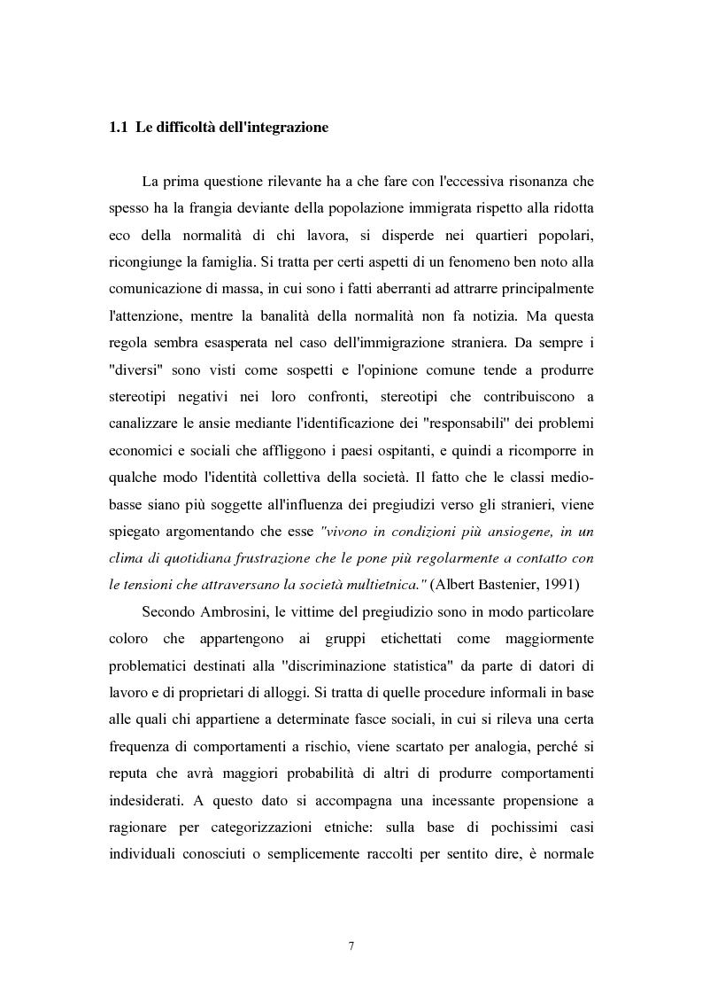 Anteprima della tesi: Immigrazione extracomunitaria e lavoro in Veneto: il caso del comune di Oderzo, Pagina 3